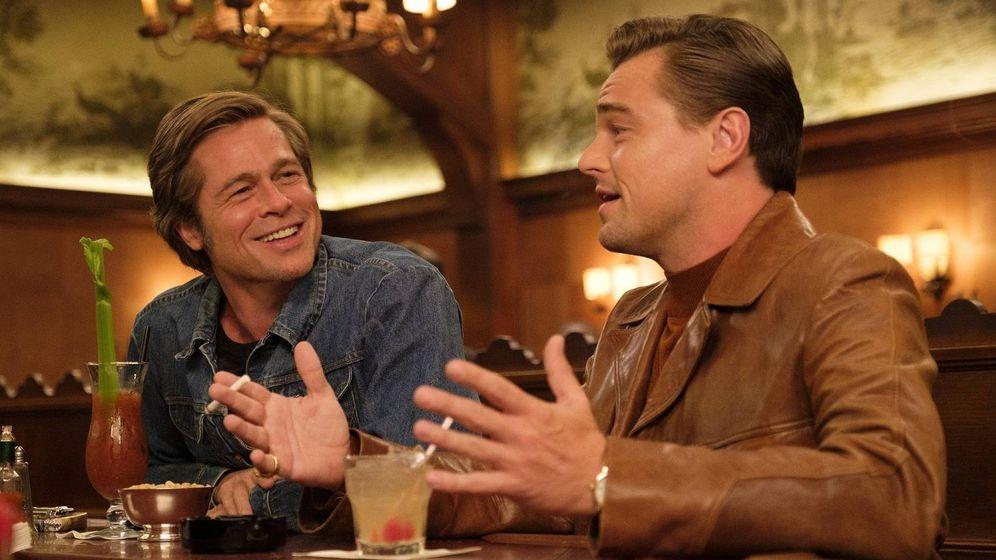 Foto: Brad Pitt y Leonardo DiCaprio en 'Érase una vez en... Hollywood'. (Sony Pictures)