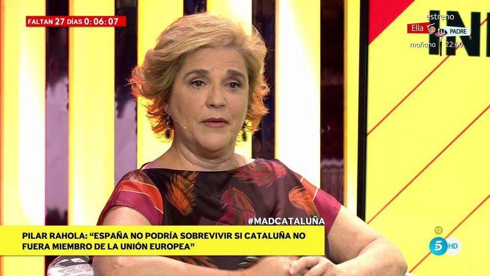 El público se mofa de Rahola al defender la independencia de Cataluña