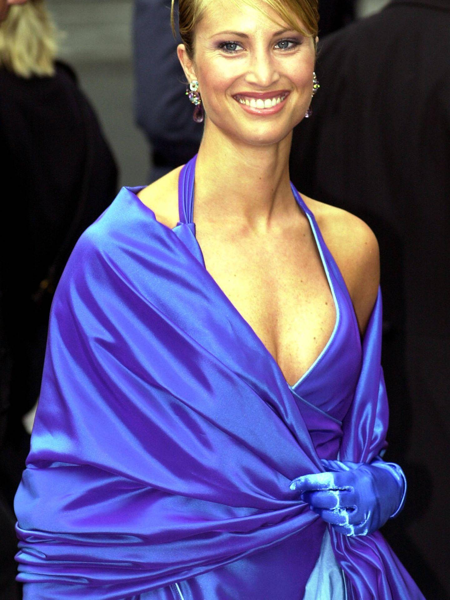 Eva Sannum y su célebre vestido. (Getty)