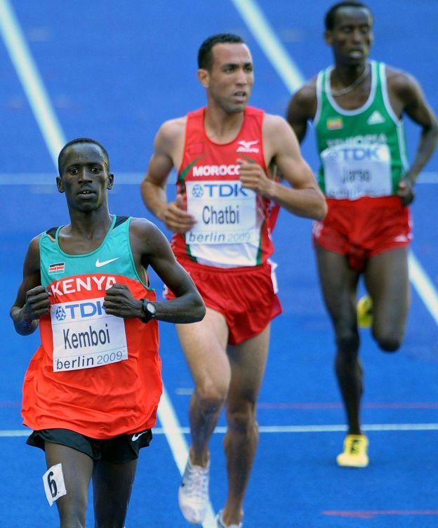 Foto: Jamel Chatbi en los Campeonatos del Mundo de Atletismo  2009 en Berlín (Christophe Karaba/EFE)
