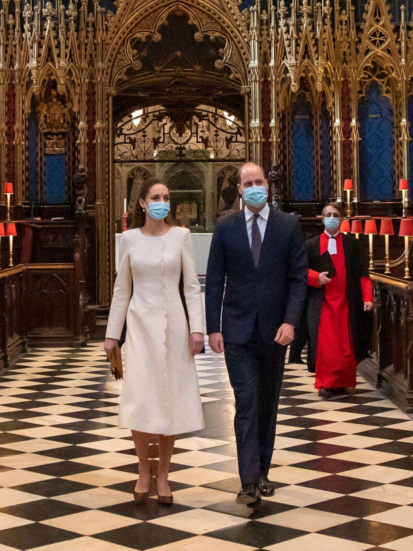 Los duques de Cambridge, este martes en la abadía de Westminster. (Reuters)
