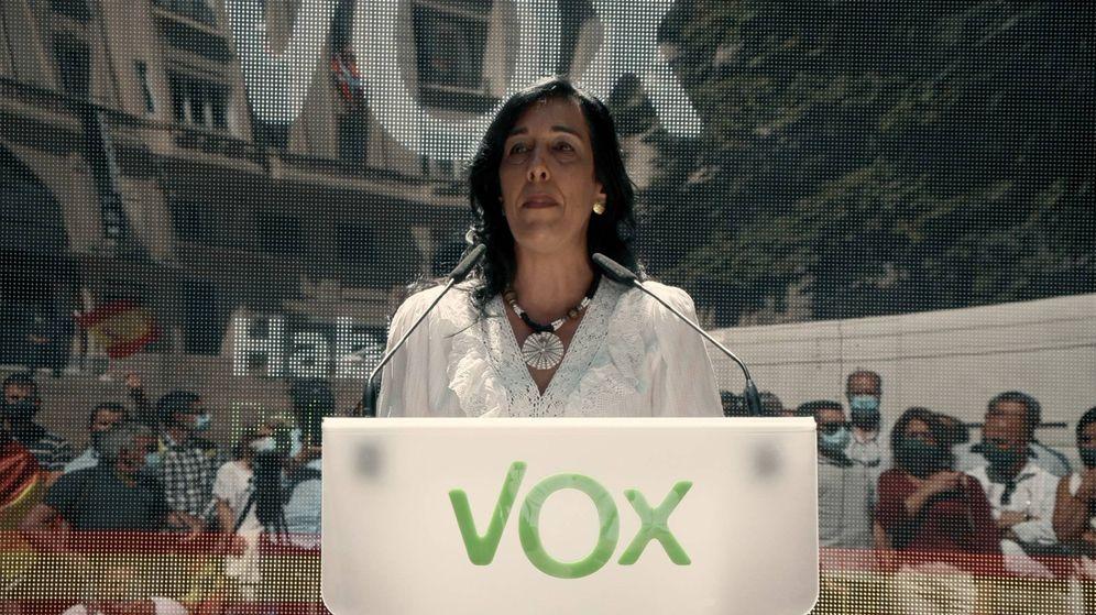 Foto: Amaia Martínez, durante uno de sus últimos mítines. (Vox)