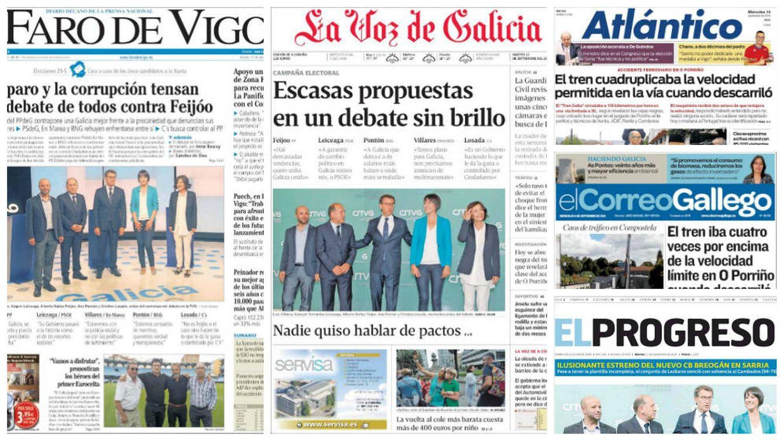En imágenes: así informa la prensa gallega sobre las elecciones a la Xunta del 25-S