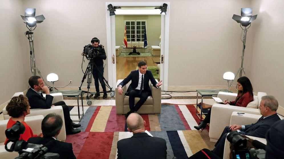 Foto: El presidente Pedro Sánchez en La Moncloa. (EFE)