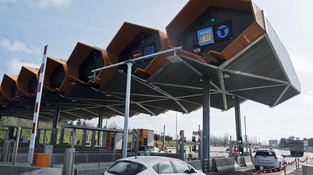 Foto: Nuevo dispositivo para peajes desarrollado por Abertis. (EFE)
