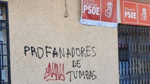 Profanadores de tumbas: pintadas a favor de Franco en sedes del PSOE cerca del Valle