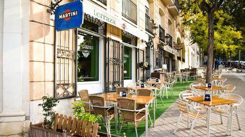 La terraza y la cocina de El Botánico, en Madrid
