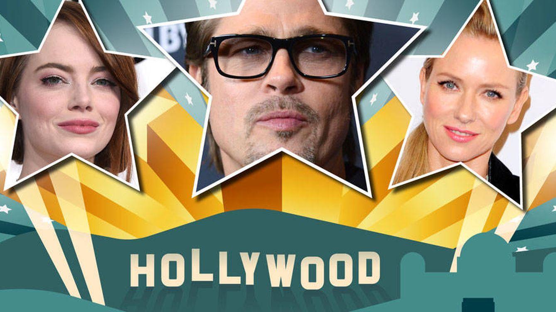 Hollywood: el amor (chungo) florece para Emma Stone, Naomi Watts y Brad