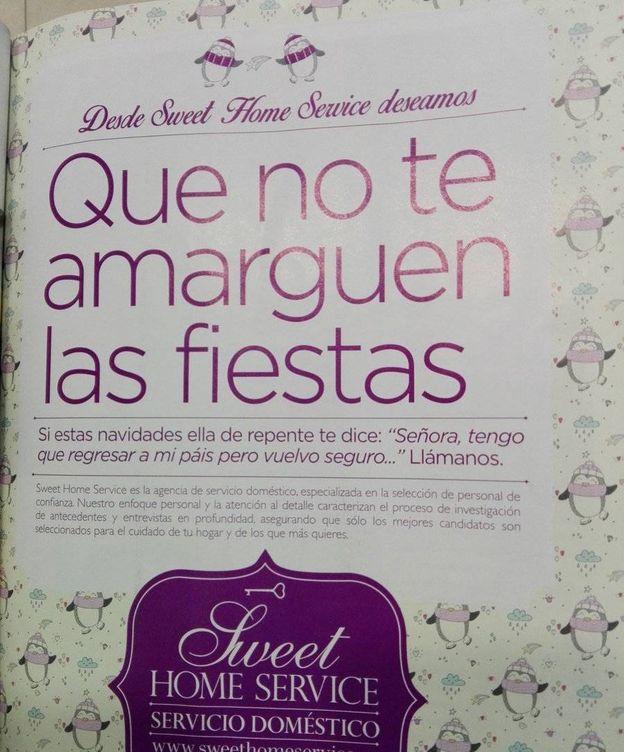 Foto: El anuncio se había publicado en la revista La Moraleja (@buambulancia)