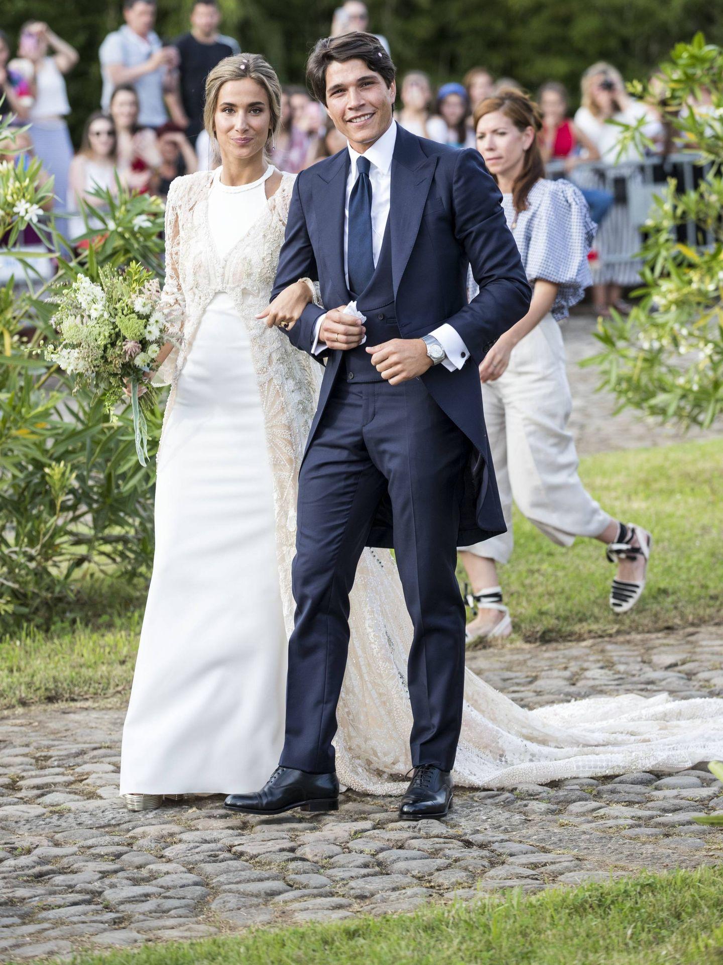 María Pombo y Pablo Castellano, el día de su boda. (Cordon Press)