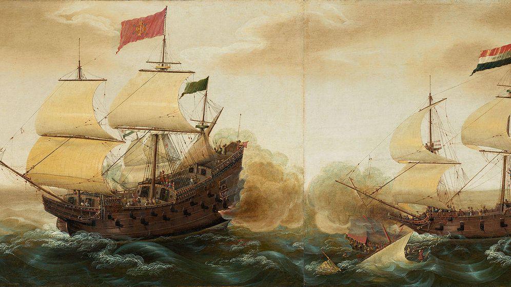Foto: Galeones españoles contra galeones holandeses. (Cornelis Verbeeck)