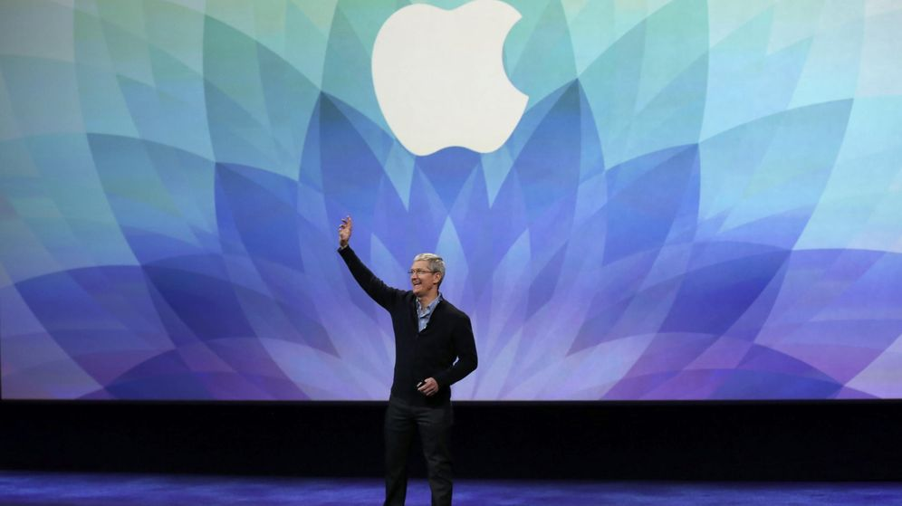 Foto: Apple CEO Tim Cook speaks during an Apple event in San Francisco