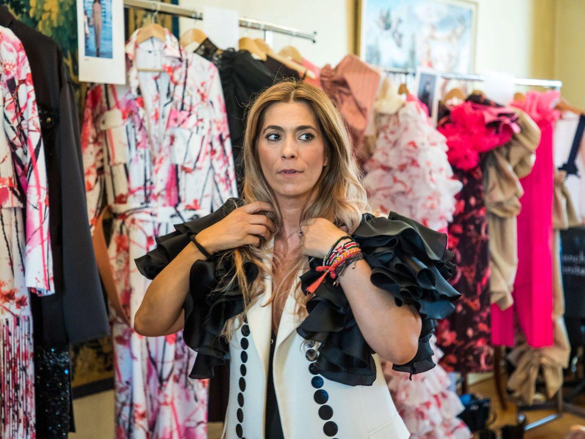Foto: La diseñadora española Juana Martín en la Semana de la Moda de París 2018. (EFE)
