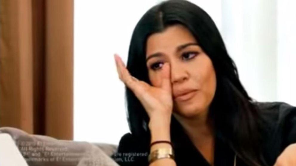 Kourtney Kardashian llora amargamente por el fracaso de su matrimonio