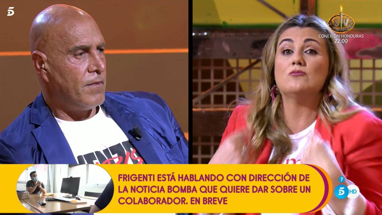 Kiko y Carlota, en 'Sálvame'. (Telecinco)