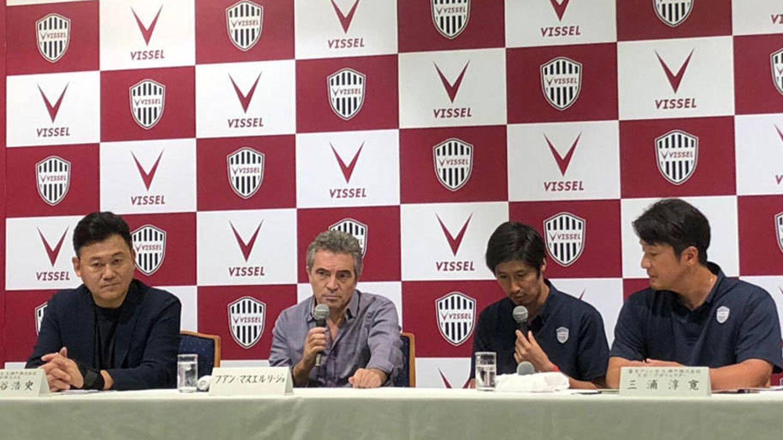 Juanma Lillo, durante su presentación como entrenador del Kobe Vissel. (Reuters)