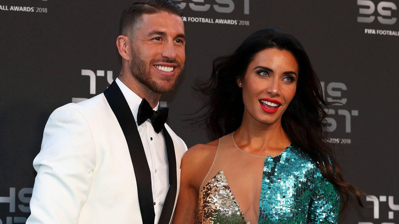Sergio Ramos y Pilar Rubio, en unos premios futbolísticos. (Getty)