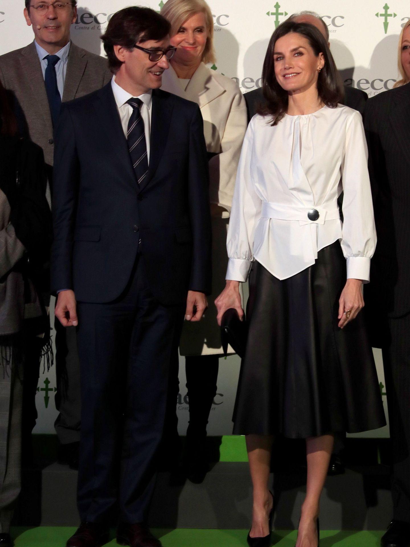 La reina Letizia, en el IX Foro contra el Cáncer, el martes pasado. (EFE)