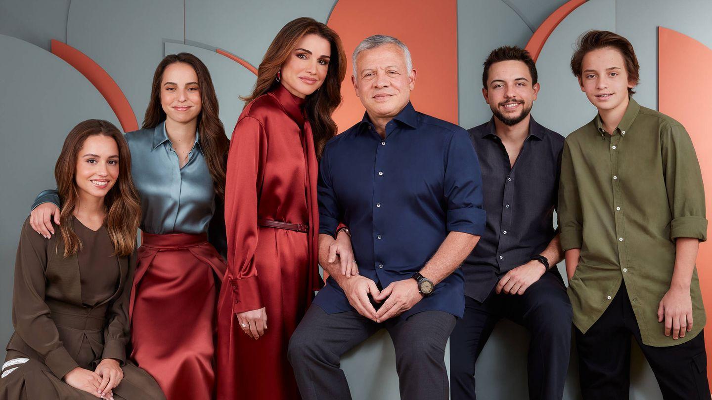 La familia real jordana, en su felicitación navideña. (Redes Sociales Queen Rania)