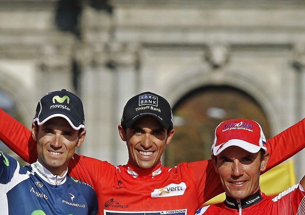 Foto: Alejandro Valverde (i), Alberto Contador (c)y 'Purito' Rodriguez (d), bazas del equipo español.
