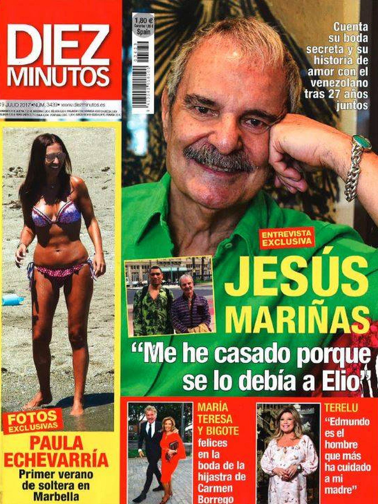 Portada de la revista 'Diez Minutos'.