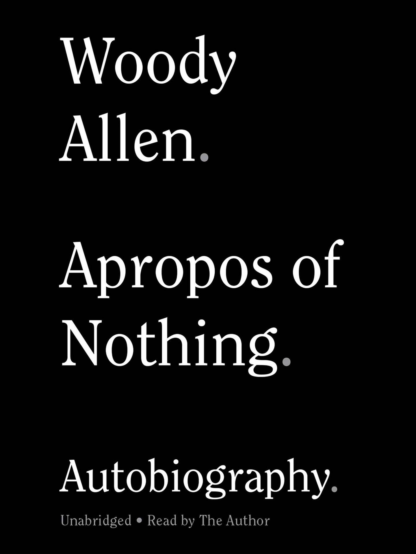 Detalle de la portada de 'Apropos of Nothing'