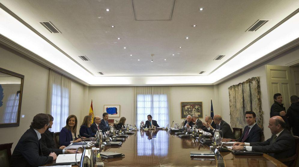 Foto: Mariano Rajoy, presidiendo el Consejo de Ministros. (Efe)