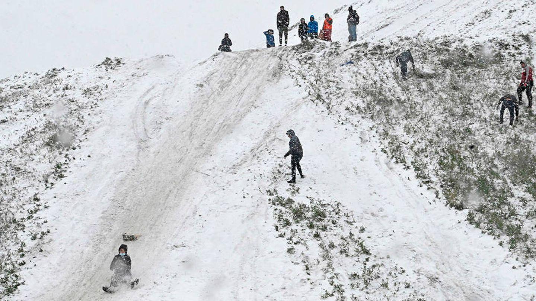 Nieve en la Cañada, tras el paso de la borrasca Filomena. (EFE)
