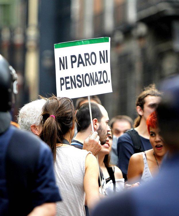Foto: Protesta contra la reforma de las pensiones. (EFE)