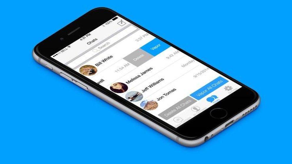 VaporChat permite borrar tus mensajes del móvil del receptor