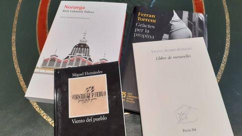 Mucha literatura en la visita de Pere Aragonès al Palau de Ximo Puig