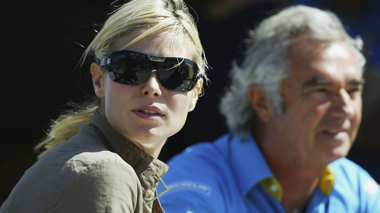 Flavio Briatore, con Heidi Klum en 2003. (Getty)
