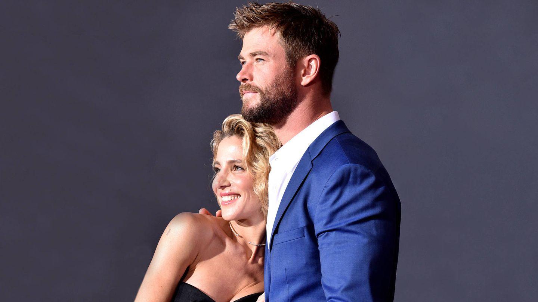 Elsa Pataky y Chris Hemsworth. (Getty)