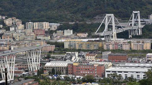 Así se ha hundido el puente de una autopista en Génova