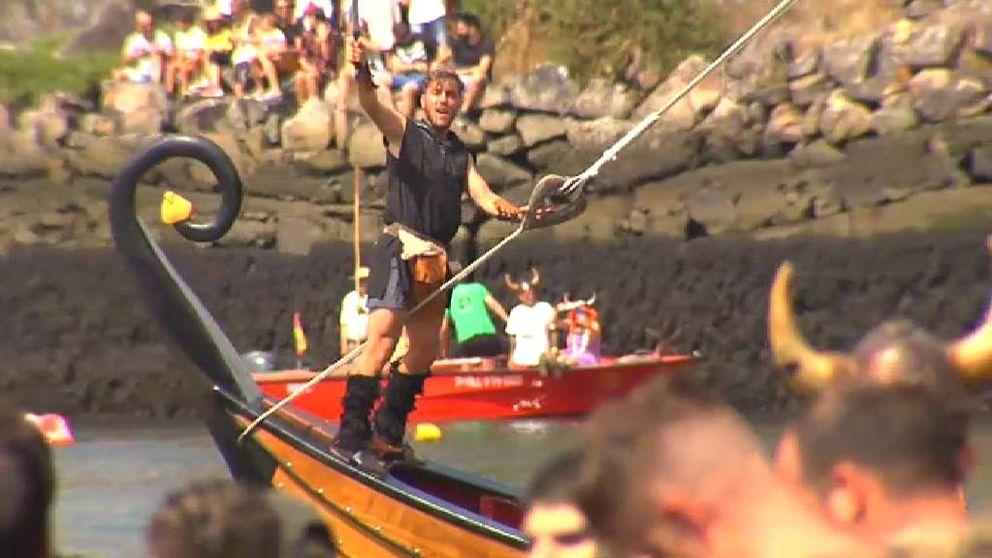 Los vikingos desembarcan en Catoira