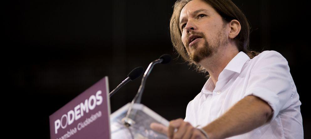 Foto: Pablo Iglesias, durante el discurso de apertura del congreso de Podemos en Vistalegre. (Daniel Muñoz)