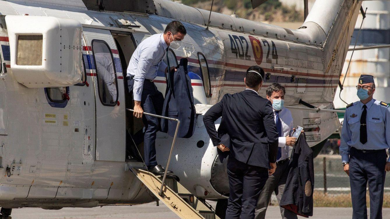 Foto: El presidente del Gobierno, Pedro Sánchez, a su llegada a Ceuta. (EFE)