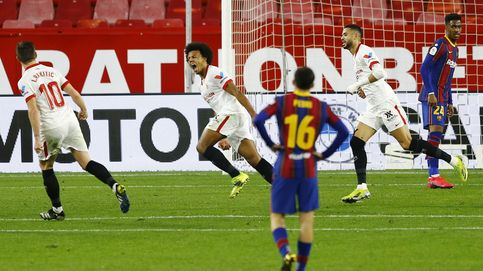 Un sólido Sevilla se impone al Barça en la ida de las semis de Copa (2-0)