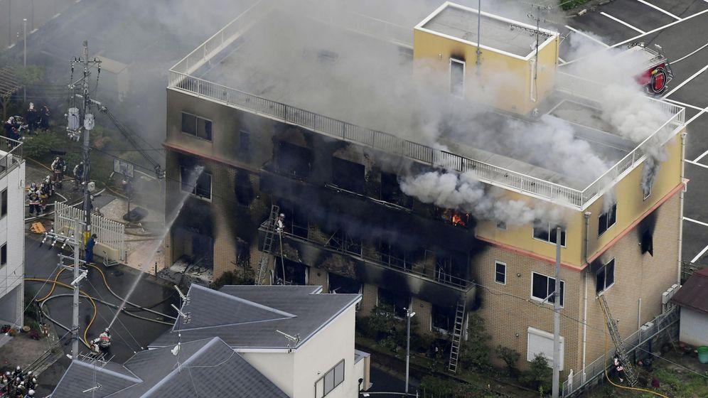 Foto: Incendio en Kyoto Animation (Reuters)
