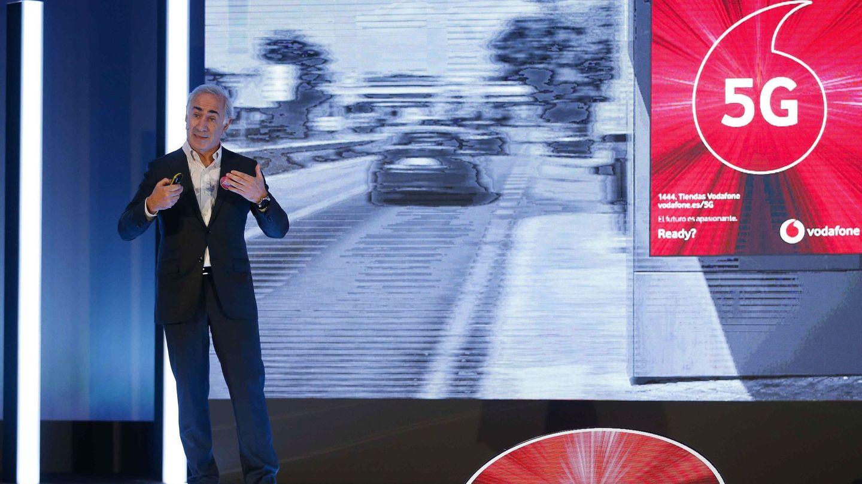 El presidente de Vodafone España, Antonio Coimbra, durante la presentación de los servicios 5G