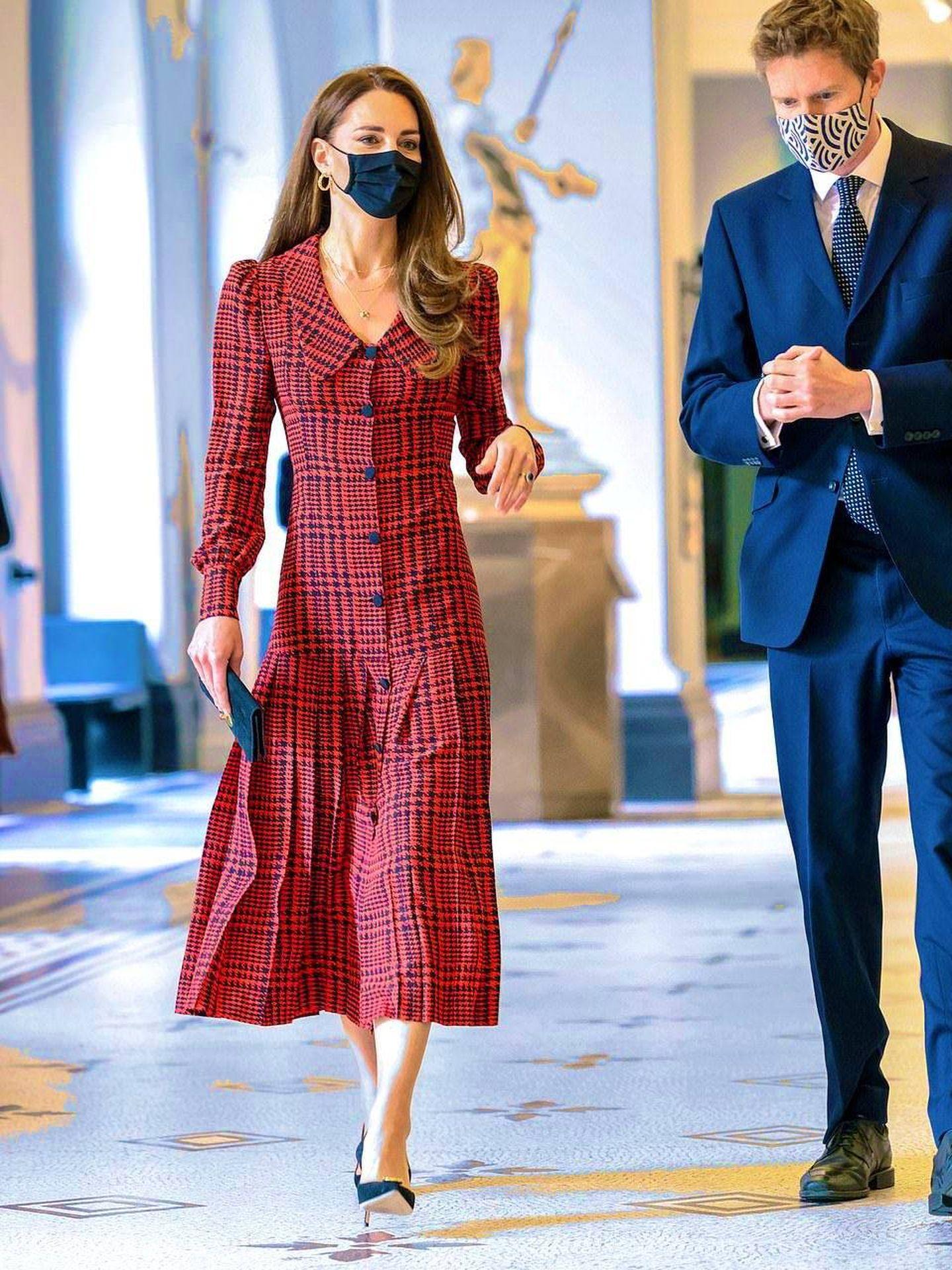 El look de Kate Middleton este miércoles. (PA)