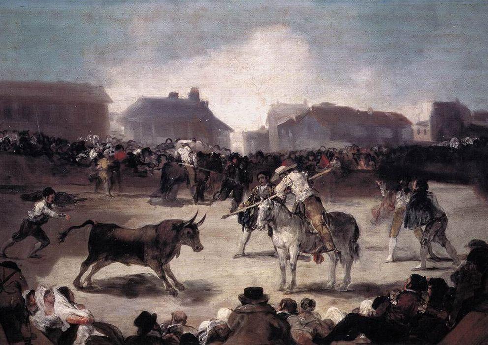 """Foto: """"Una corrida de toros del pueblo"""", pintado por Francisco de Goya entre 1815 y 1819."""