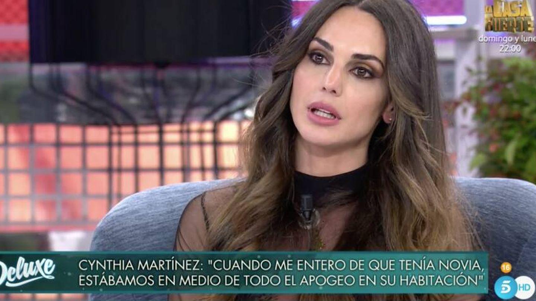 Cynthia Martínez, en el 'Deluxe'. (Mediaset)