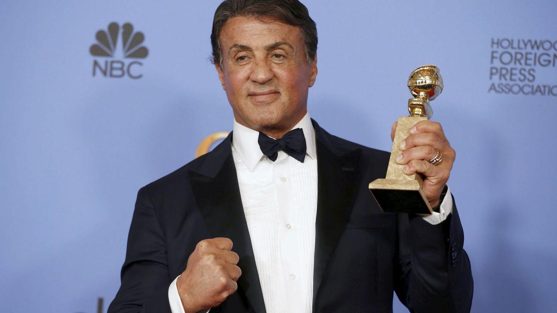 Sylvester Stallone recoge el Globo de Oro (Reuters)