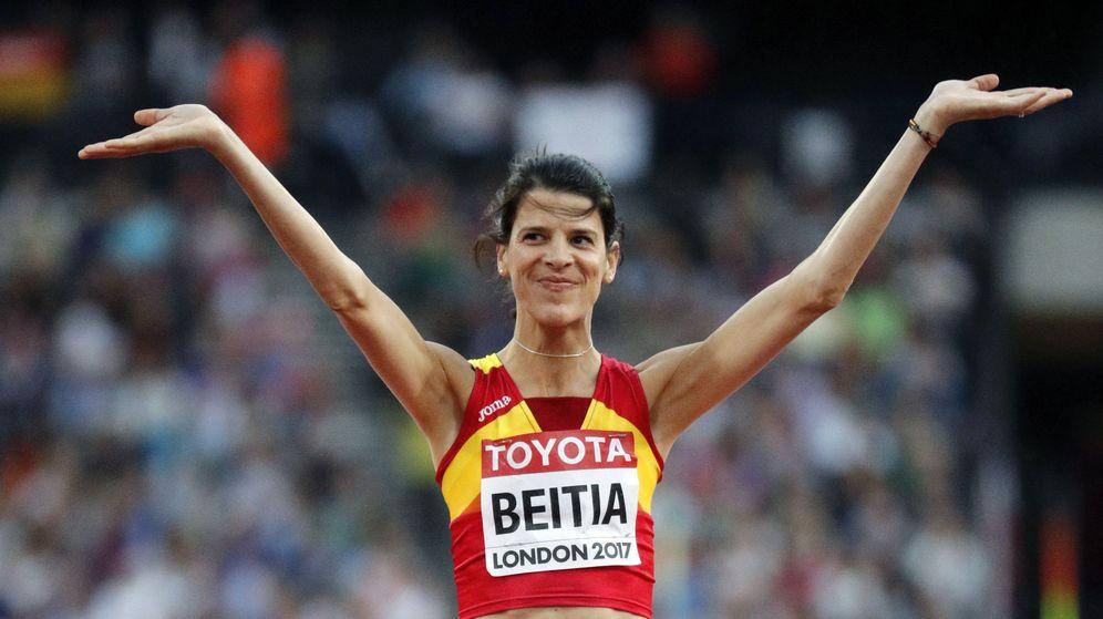 Foto: Ruth Beitia saltó a la primera 1,84 y 1,88, pero no pudo con 1,92. (EFE)
