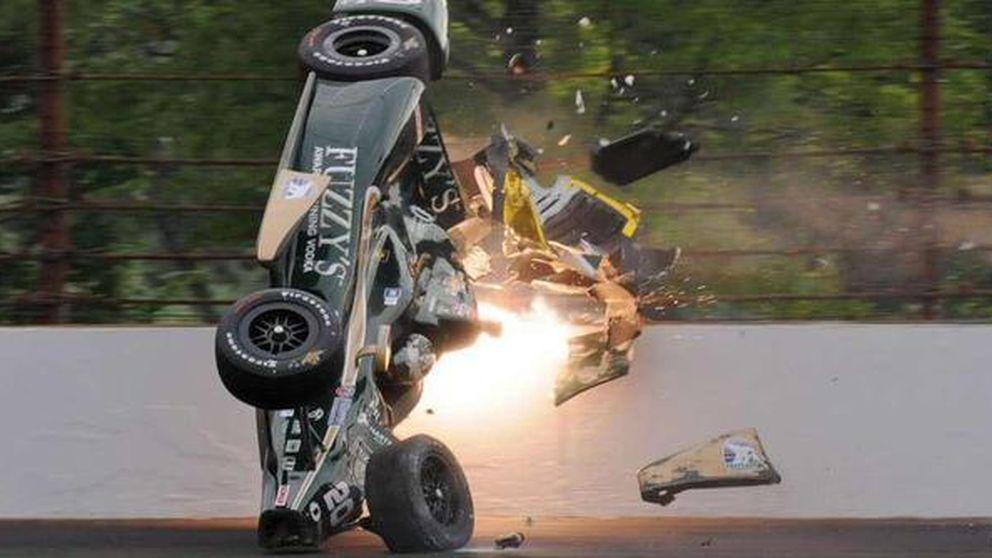 Las 500 millas de Indianápolis juega con la tragedia: accidentes a más de 300km/h