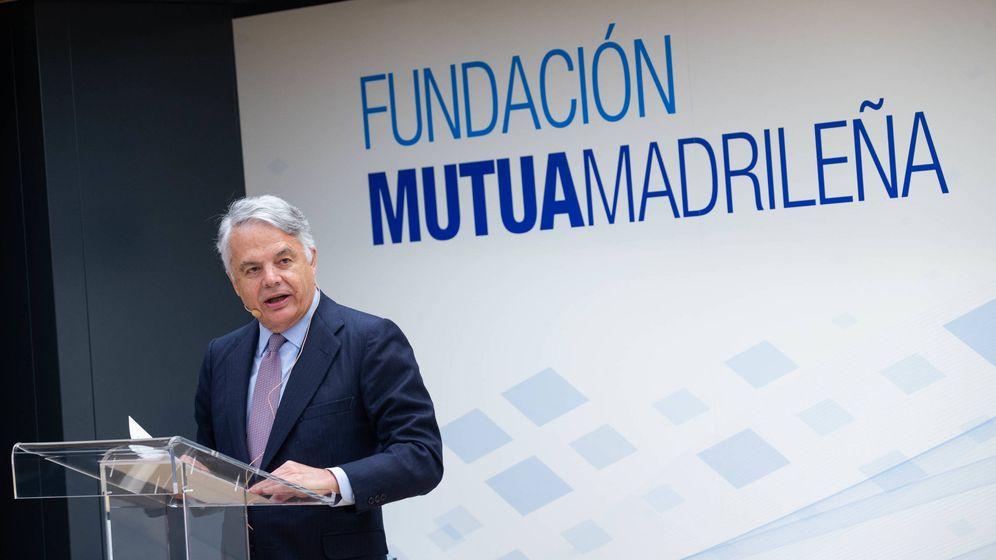 Foto: Ignacio Garralda, presidente de Mutua Madrileña, durante el acto de entregas a proyectos de acción social