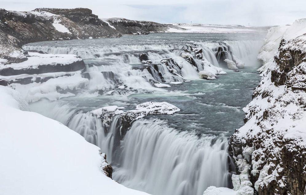 Foto: Así de impresionante aparece la cascada de Gullfoss, en Islandia (iStock)