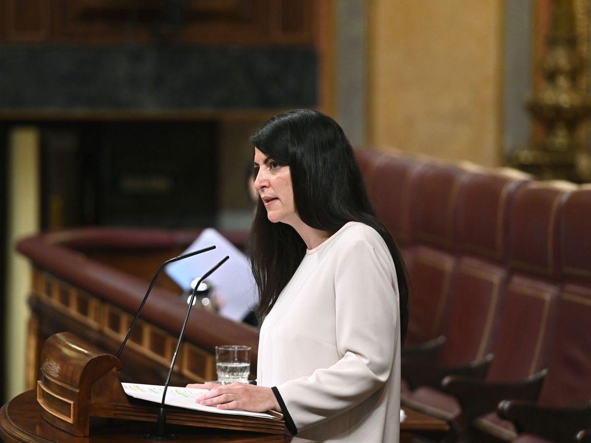 Foto: Macarena Olona (Vox) es la que más preguntas ha hecho esta legislatura. (EFE)