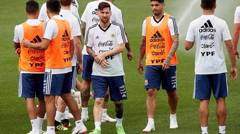 Messi prepara en Barcelona con la selección argentina el Mundial
